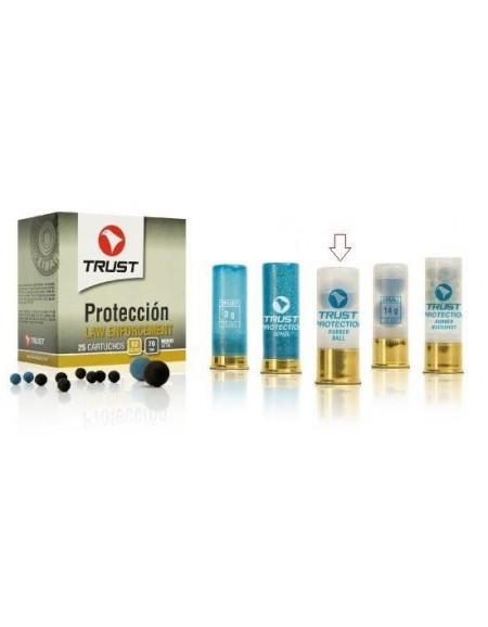 Cartucho Trust Protección 12/70 1 Bola Goma