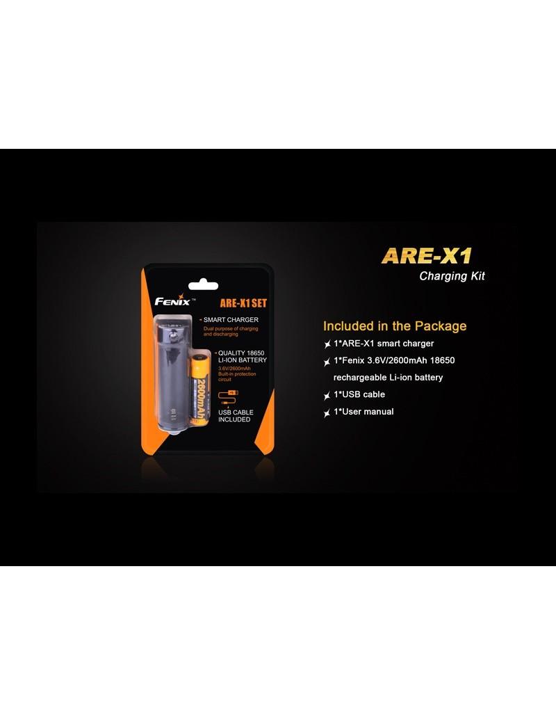 Cargador Fenix ARE-X1 + bateria 18650