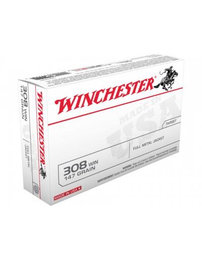 Munición Winchester .308 Win. FMJ 147 gr.