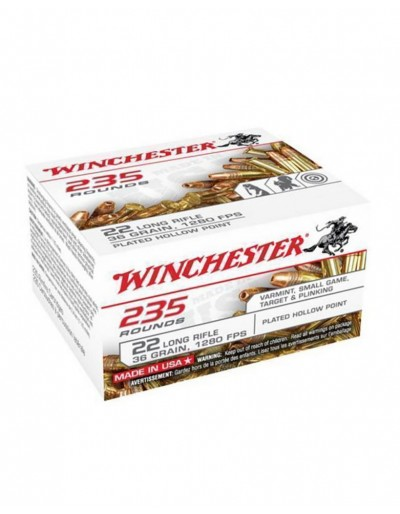 Munición Winchester .22 LR Copper Plated HP