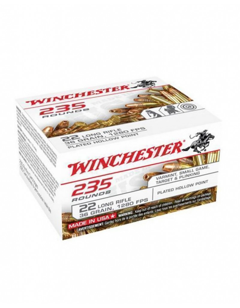 Winchester .22 LR Plated Hollow Point