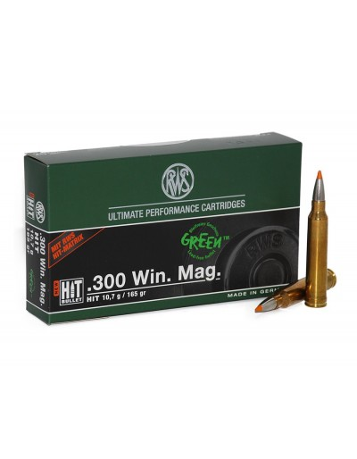 Munición RWS .300 WIN.MAG. HIT 165 GR.