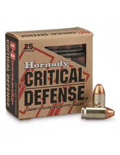 HORNADY 9MM CRITICAL DEFENSE FTX 115 GR.