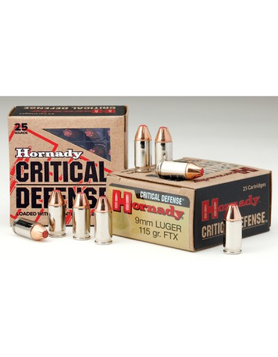 HORNADY 9MM CRITICAL DEFENSE FTX 115 GR.