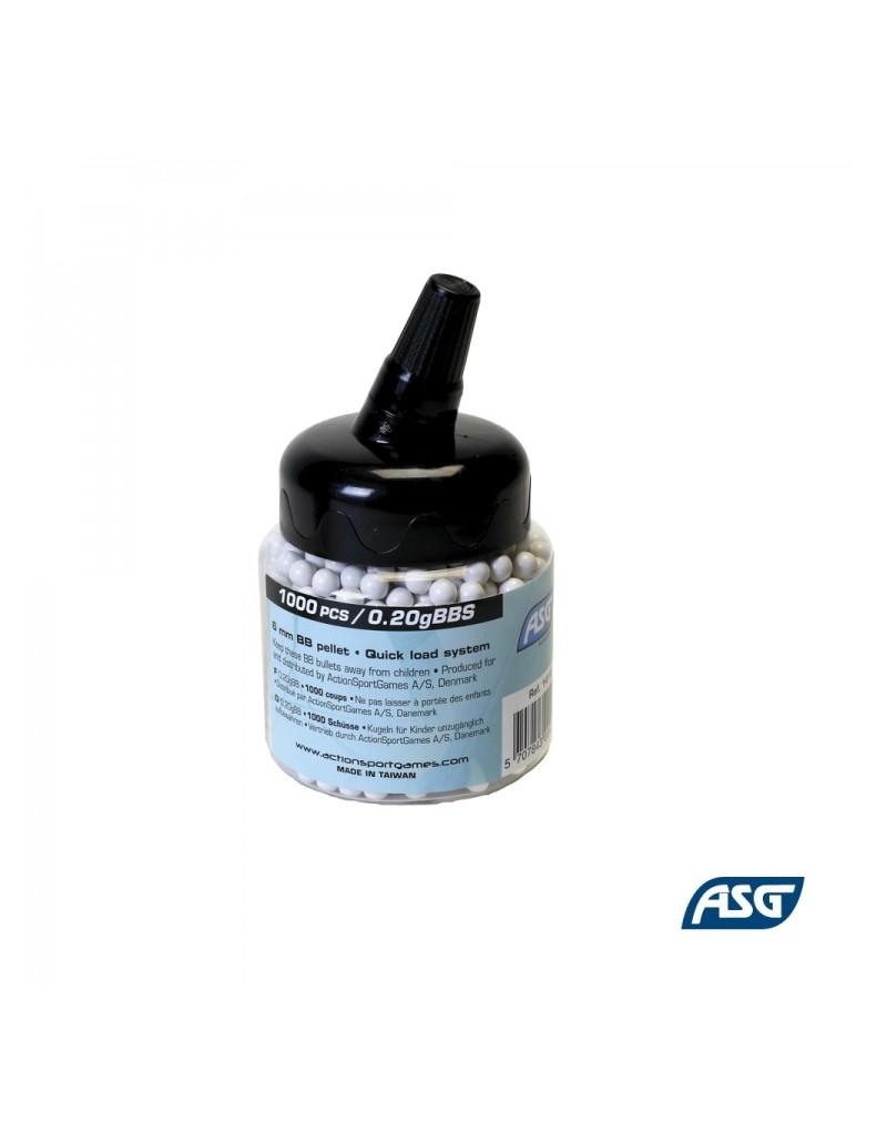 Biberon Airsoft ASG 6 mm 0,20 g
