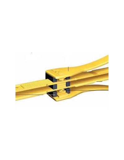 Trifold esposas grilletes amarillos