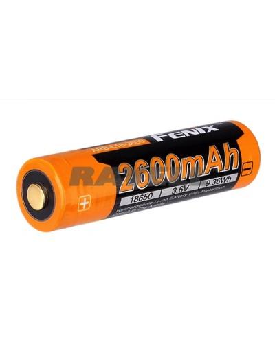 Bateria recargable 18650 Li-Ion 3.6V 2600 mAh.