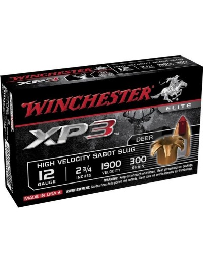 Cartucho Winchester XP3 12/70