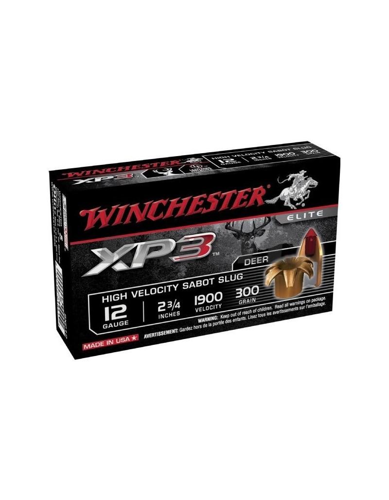 Cartucho Winchester XP3 12/70